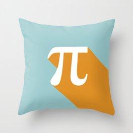 Retro Pi Throw Pillow