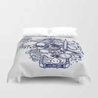 doodle Duvet Covers featuring Doodle by Puddingshades