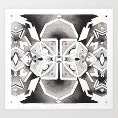 Star Chart Kaleidoscope Art Print