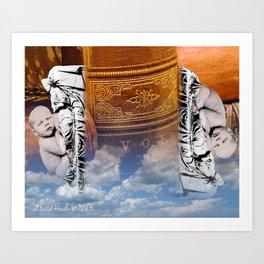 Bookends Art Print