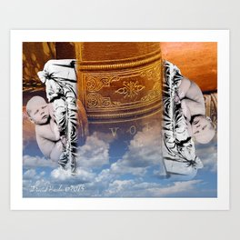 Bookends Art Print