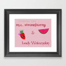Ms.Strawburry & Lady Watamelon Framed Art Print