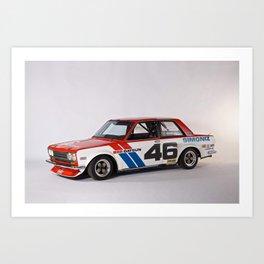 BRE Racing 510 Vintage JDM SCCA Championship Classic Automobile Art Print