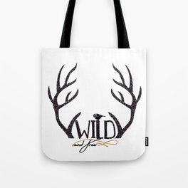 Wild and Free Deer Antler Tote Bag Tote Bag