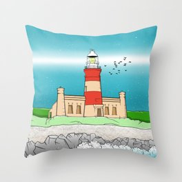 Cape Agulhas Lighthouse Throw Pillow