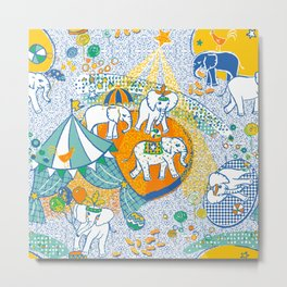 Elephant Act Metal Print