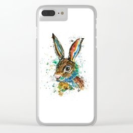 Bunny Rabbit - Real Bunny Clear iPhone Case