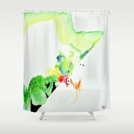 Chicken Thought Shower Curtain