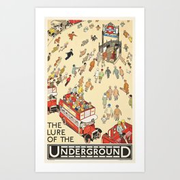 London Underground Vintage Art Print