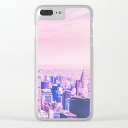 New York City Rose Tinted Glasses Clear iPhone Case