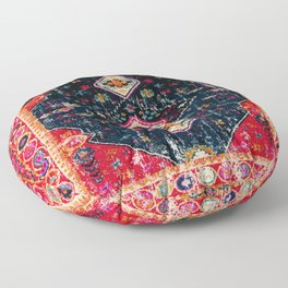 Heritage Oriental Berber Traditional Moroccan Style Blue & Red Design Floor Pillow