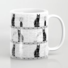 Black Cats Coffee Mug