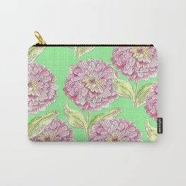 Zinnia Pattern Carry-All Pouch