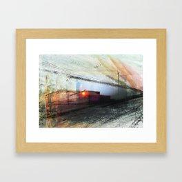 RAIL JOURNEY Framed Art Print