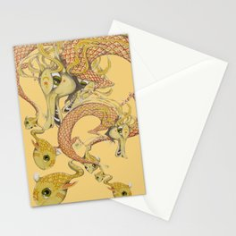 Dragon with fish Stationery Cards