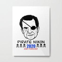 Pirate Nixon Metal Print