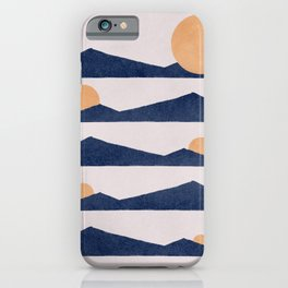 Different moments of the day artwork iPhone Case