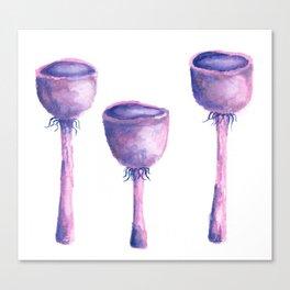 Purple Mushrooms Canvas Print