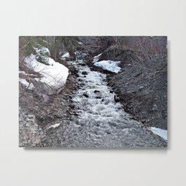 Mountain Run Off Metal Print
