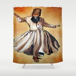 Semasen - Sufi Whirling Dervish Shower Curtain