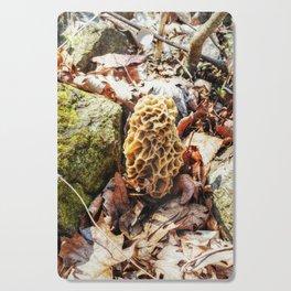 Morel Mushroom in the Wild Cutting Board