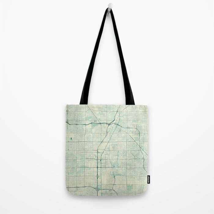 Las Vegas Map Blue Vintage Tote Bag