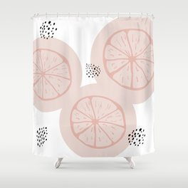 Elizabeth - white Shower Curtain