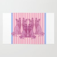 foxes Area & Throw Rugs featuring Foxes! by katieWalkerDesigns