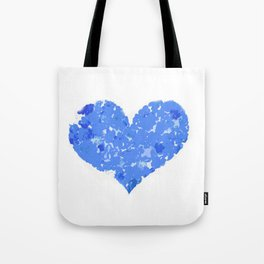 A Heart Of Blue Flowers Tote Bag