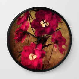 Vintage Flowers Wall Clock