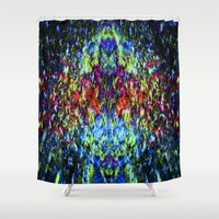 wizard Shower Curtains featuring Crow Wizard by jeremyriveraarts