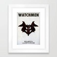 Watchmen - Rorschach  Framed Art Print