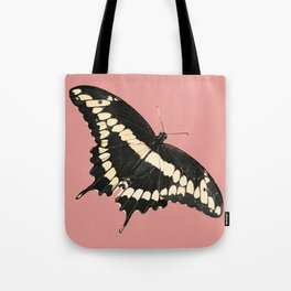 Butterfly Illustrated Print Tote Bag