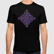 Gloomy purple mandala pattern Mens Fitted Tee MEDIUM Black