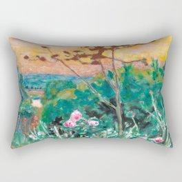 Pierre Bonnard - Jardin à Vernonnet - Garden at Vernonnet - Les Nabis Painting Rectangular Pillow
