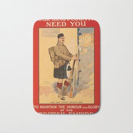 Your King and Country Need You, British Empire Bath Mat