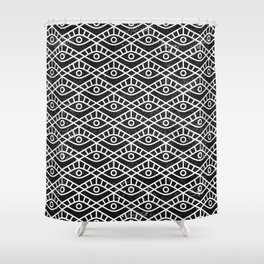 You are watched (Geomteric Eye Pattern) Shower Curtain