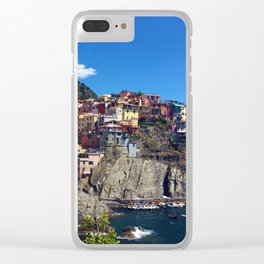 Manarola Cinque Terre Italy Clear iPhone Case