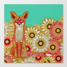 garden fox Canvas Print
