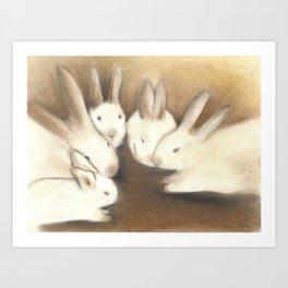 A Conspiracy of Rabbits Art Print