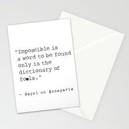Napoleon Bonaparte type quote Stationery Cards
