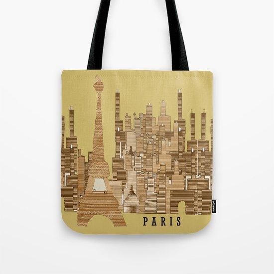 paris skyline (vintage Tote Bag