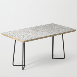 Enokitake Mushrooms (pattern) Coffee Table
