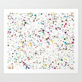 Colourful Sting Pattern Art Print