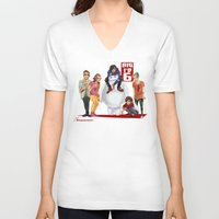 1d V-neck T-shirts featuring Big 1D 6! by justsomestuff