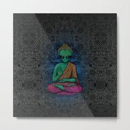 Alien Buddha Metal Print
