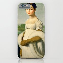 """Jean-Auguste-Dominique Ingres """"Mademoiselle Riviere"""" iPhone Case"""