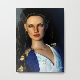 Padme on the Balcony Metal Print