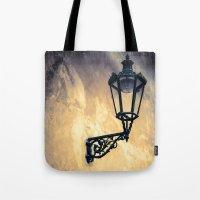 lantern Tote Bags featuring Lantern by Maria Heyens