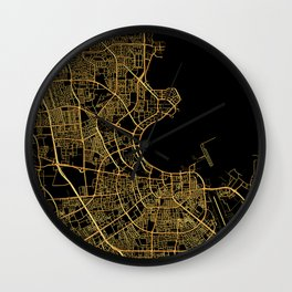 Doha map Wall Clock